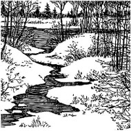 Winter Cover A Card Background Unmounted Rubber Stamp Impression Obsession New
