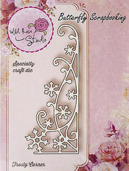 Winter Frosty Corner Creative Steel Die Cutting Dies WILD ROSE STUDIO SD022 New