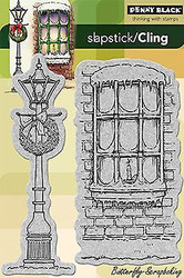 Winter Lamppost, Cling Style Unmounted Rubber Stamp PENNY BLACK - NEW, 40-174