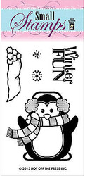 Winter Penguin 5 Small Stamps Clear Unmounted Rubber Stamp Set HOTP 1128 New