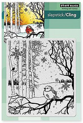 Winter Song Bird Cling Style Unmounted Rubber Stamp PENNY BLACK 40-339 NEW