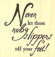 Wizard Of Oz Quote, Wood Mounted Rubber Stamp IMPRESSION OBSESSION - NEW, D3954