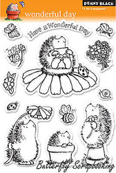 Wonderful Day Stamp Set Clear Unmounted Rubber Stamp Set PENNY BLACK 30-045 New