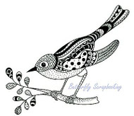 ZENTANGLE BIRD Stamp Clear Unmounted Rubber Stamp Joy! Crafts 6410/0347 New
