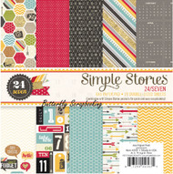 24 / Seven Collection Scrapbooking 6x6 Paper Pad Simple Stories 24 Pages NEW