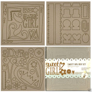ALL GIRL 8x8 Chip Board Album Box Set  FANCY PANTS New
