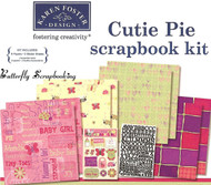 Baby Girl CUTIE PIE GIRL 12X12 Scrapbooking Kit Karen Foster 20471 NEW
