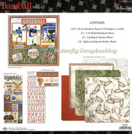 BASEBALL SPORTS 12X12 Scrapbooking Kit The Paper Studio 331223 NEW
