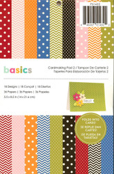 Basics Cardmaking Collection Scrapbooking 5.5x8.5 Paper Pad Pebbles Crafts New