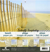 BEACH 12x12 Scrapbooking Paper Pack Paper House PP-0005 NEW