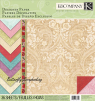 Beyond Postmarks Designer Scrapbooking 12X12 Paper Pad 36 Sheets K&Company NEW