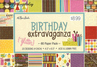 Birthday Extravaganza THE PAPER STUDIO 4.5''x6.5'' Paper Pack, 80 Sheet - 341461
