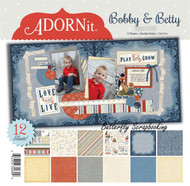 Bobby & Betty Kids Collection 12X12 Scrapbooking Paper Pack Adornit Carolees New