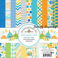 Boy Birthday Hip Hooray Scrapbooking 6x6 inch Paper Pad Doodlebug 24 Sheets NEW