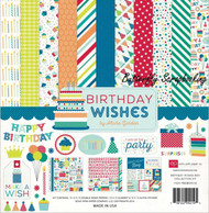 Boy BIRTHDAY Wishes Collection Kit 12X12 Scrapbooking Kit Echo Park Paper NEW