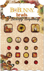 Brads ENCHANTED HARVEST Collection Scrapbooking BRADS Pack BoBunny 18804055 NEW