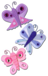 BUTTERFLY 3D Scrapbook Stickers Embellishments Paper B