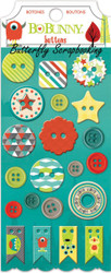 Button Stickers Kids Our Little Monster Collec BoBunny Paper Crafts 15808225 NEW