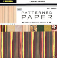 Casual Palette Outdoors Pattern 8X8 Paper Pack 40 Sheets Scrapbooking DMD NEW