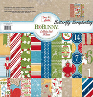 CHRISTMAS DEAR SANTA Collection Pack 12x12 Scrapbooking Kit BoBunny 18416083 New