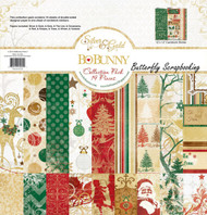 Christmas Silver & Gold Collection Pack 12x12 Scrapbooking Kit BoBunny New