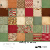 Christmas Tradition 12x12 Scrapbooking Paper Pad 60 Sheets Kaisercraft PP207 NEW