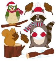 Christmas Woodland Critters 3D Stickers Jolee's Boutique EK Success New