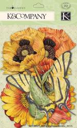 Cottage Garden 68 pcs Tim Coffey Scrapbook Die Cuts K&Company NEW 30-598621
