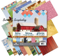 COUNTRY FARM 12x12 Scrapbooking Paper Pad 24 Sheets Paper House PP-0035 NEW