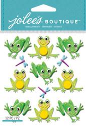 CUTESY FROGS 3D Stickers Jolee's Boutique EK Success 50-21832 NEW