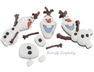 DISNEY FROZEN SNOWMAN Buttons Dress It Up Button Embellishments Jesse James NEW