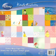DISNEY MEGA 150 Sheet Paper Pad 12X12 Scrapbooking Paper Pad SANDYLION New