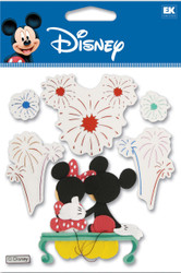 DISNEY Mickey & Minnie Mouse Fireworks 3D Stickers by EK Success New