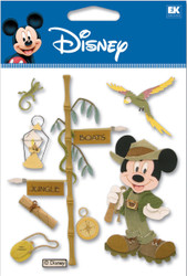 DISNEY Mickey Mouse Jungle Cruise 3D Stickers by EK Success New