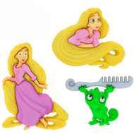DISNEY RAPUNZEL Buttons Dress It Up Button Embellishments Jesse James New