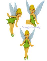 DISNEY TINKERBELL Buttons Dress It Up Button Embellishments Jesse James NEW