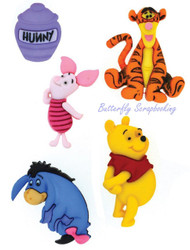 DISNEY WINNIE THE POOH Buttons Dress It Up Button Embellishments Jesse James NEW