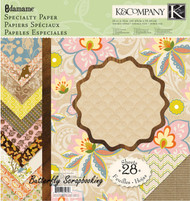 Edamame Specialty Paper Pad Scrapbooking 12X12 Paper Pad 28 Sheets K&Company NEW