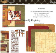 FAITH HOPE LOVE 12X12 Scrapbooking Kit Page Kit by Paper Studio 345439 NEW