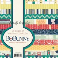 Family Is Collection Scrapbooking 6x6 Paper Pad Bo Bunny 36 Pages BoBunny NEW