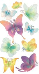 Fancy Vellum Butterfly Butterflies 3D Stickers Jolee's Boutique EK Success New