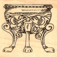 FOOTED BOWL Wood Mounted Rubber Stamp Stampabilities