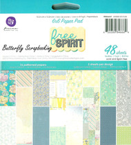 FREE SPIRIT Collection Scrapbooking 6x6 inch Paper Pad PRIMA 48 Sheet 846664 NEW