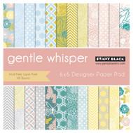 Gentle Whisper, 6''x6'' Designer Paper Pad (48 Sheets) PENNY BLACK - NEW, 80-008