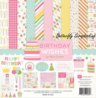 Girl BIRTHDAY Wishes Collection Kit 12X12 Scrapbooking Kit Echo Park Paper NEW