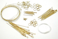Gold Jewelry Findings Kit 116 Pieces EK Success Nickel Free NEW