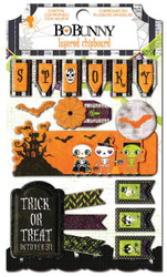 Halloween Fright Delight 3D Chipboard Stickers Bo Bunny BoBunny Paper Crafts NEW