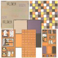 HALLOWEEN Ghost & Pumpkins 12x12 Scrapbooking Kit Vintage Press Collection New