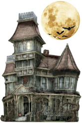 HALLOWEEN HAUNTED HOUSE 3D Stickers Scrapbooking Paper House STDM-0098 NEW