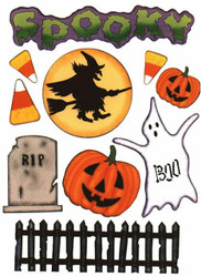 Halloween Spooky Scrapbook Die Cuts Quick Cropper Cuts Outdoors & More NEW